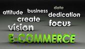 E-Commerce in de voorhoede in 3d presentatie