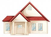 Illustration a simple house front view