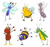 picture of mayfly  - Illustration of a set of cute animals - JPG