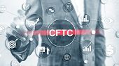 Cftc U.s. Commodity Futures Trading Commission Business Finance Regulation Concept. poster