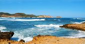 Binimela coast in Menorca, Balearic Islands, Spain