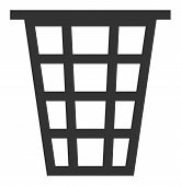 Junk Raster Icon. Flat Junk Pictogram Is Isolated On A White Background. poster