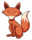 picture of cunning  - Illustration of a cunning fox  - JPG