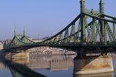 Green Metal Bridge in Budapest