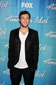 LOS ANGELES - MAY 23:  Phillip Phillips -  Winner of Season 11 American Idol in the Press Room of the