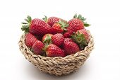 Fresh strawberries in the basket