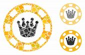 Royal Casino Chip Mosaic Of Rough Parts In Different Sizes And Color Tones, Based On Royal Casino Ch poster
