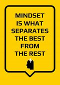 Motivational Poster. Mindset Is What Separates The Best From The Rest. Home Decor For Good Self-este poster