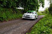 J. Laverty Driving Mitsubishi Evo