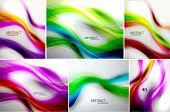 Set of abstract wave backgrounds. For normal quality increase steps in blending options