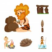 Vector Illustration Of Ancient And Age Icon. Collection Of Ancient And Archeology Vector Icon For St poster
