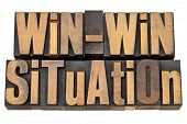 win-win situation - successful outcome of negotiation or conflict resolution concept - isolated word
