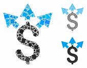 Split Payment Mosaic Of Joggly Elements In Different Sizes And Color Tints, Based On Split Payment I poster