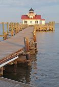 The Roanoke Marshes Lighthouse In Manteo, North Carolina Vertical