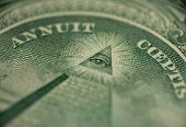 foto of freemason  - macro of one dollar  - JPG