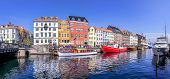 Panoramic View At Nyhavn, Copenhagen In  Denmark poster