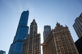 Wrigley Building And Trump Tower Chicago