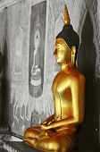 picture of budha  - Budha statue taken at Wat Phrathat Doi Suthep temple in Chiang Mai Thailand - JPG