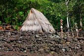 Hut and Figures, Waimea Valley, Hawaii