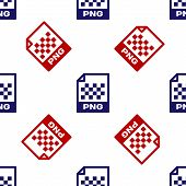 Blue And Red Png File Document. Download Png Button Icon Isolated Seamless Pattern On White Backgrou poster
