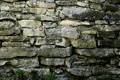Wall Built From Stone Plates In 1875
