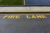 Yellow fire lane