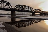 Prince George Rail Bridge, Fraser River
