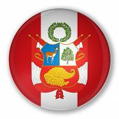 Badge With Flag Of Peru