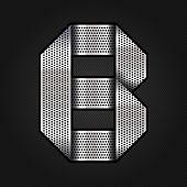 Letter metal chrome ribbon - B