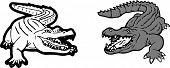 Crocodile Icon On White Background  Wildlife, Young, Zoo, Zoology poster