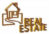 Real Estate Logo 3D Brick