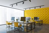 Yellow Open Space Office Corner poster