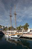 Sailing Ship In Cartagena, Spain