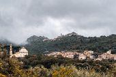 Villages Of Ville Di Paraso And Speloncato In Corsica poster