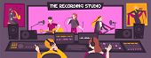 Colored And Flat Recording Studio Composition With The Recording Studio Description Group Sings Song poster