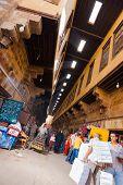 Fabricantes de tiendas de Khiamiyya al Bazar el Cairo inclinado