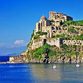 Aragonese Castle on Ischia, italian island