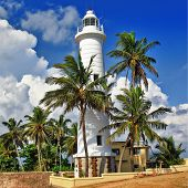 pictorial view of light house - Galle fort (Sri Lanka)