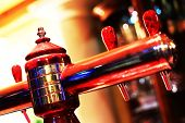Beer tap - shallow depth of filed