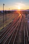 Railway At Sunet