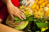 KO CHANG, THAILAND - NOV 28: Local people make krathong for Loy Krathong festival, Nov 28, 2012 on C