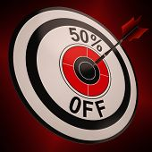 50 Percent Off Shows Markdown Bargain Advertisement