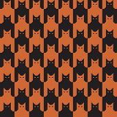 Catstooth in Orange and Black