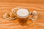Tankard Of Beer And Snacks