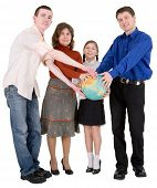 Family And Terrestrial Globe