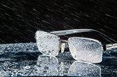 Rain And Glasses