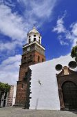 stock photo of guadalupe  - tower of the church of Nuestra Senora de Guadalupe Teguise Lanzarote Island Canary Islands Spain - JPG