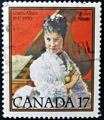 stamp printed in Canada shows Emma Albani