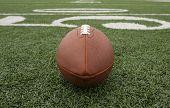 American Football Near The 50 Yard Line