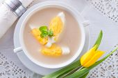 Polish Easter Soup With Egg And Sausage